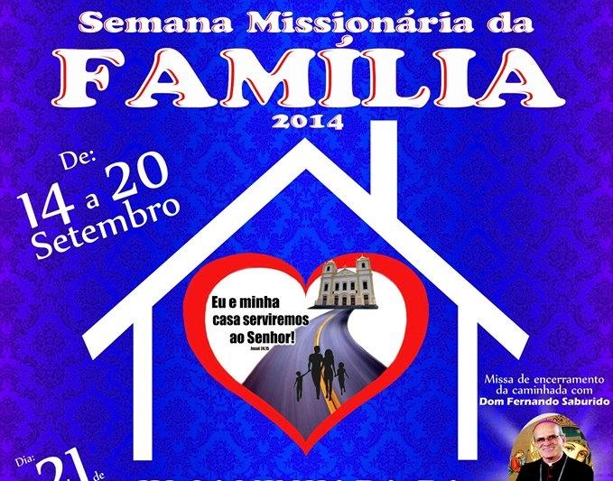 Paróquias de Jaboatão promovem Semana Missionária e Caminhada da Família no domingo