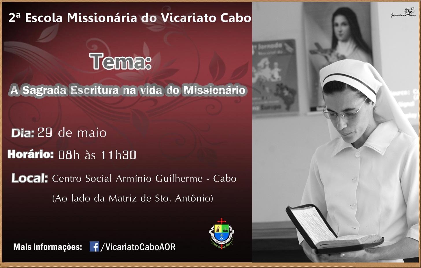 Escola Missionária do Vicariato Cabo reflete a importância da Sagrada Escritura