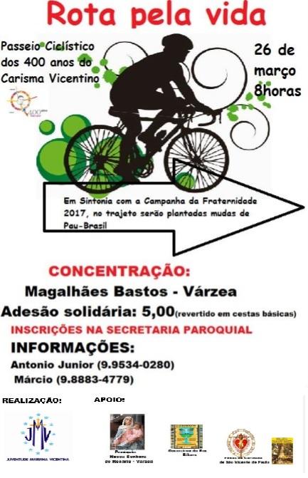 cartaz passeio ciclístico Várzea