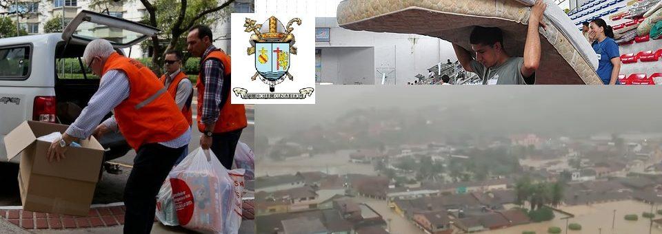 Arquidiocese mobiliza paróquias em Campanha Solidária em favor de vítimas das enchentes