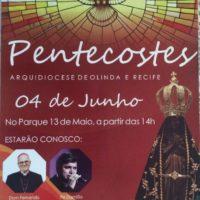Arquidiocese celebra Pentecostes no parque Treze de Maio (04/06)