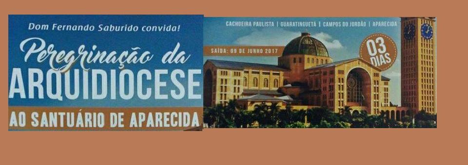 Arquidiocese convida para peregrinação ao Santuário de Aparecida