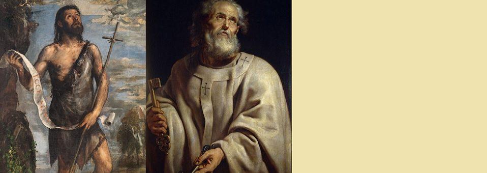 Arquidiocese celebra São João Batista e São Pedro