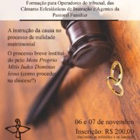 Tribunal Eclesiástico Regional do NE2 CNBB promove formação (06 e 07/11)