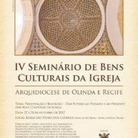 IV Seminário de Bens Culturais de Igreja (27 e 28/10)